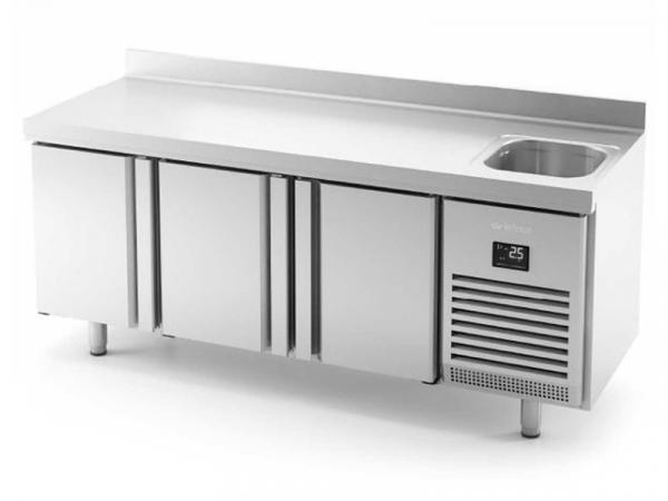 Mesa refrigerada con fregadero GN1/1 Serie 700 marca INFRICO modelo BMGN1960 F