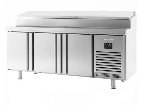 Mesa refrigerada para ensaladas Serie 600 marca INFRICO modelo BMPP 2000 EN