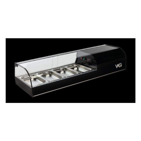 Vitrina refrigerada Serie F BLACK Marca VITRINAS GÓMEZ modelo con cubas