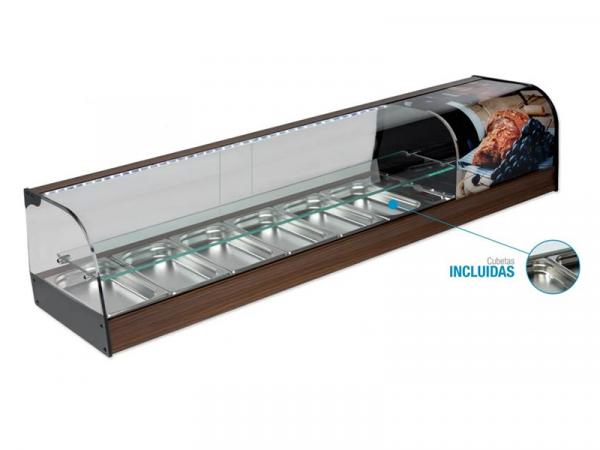 Vitrina Refrigerada decorada estante intermedio Serie VN Marca VG