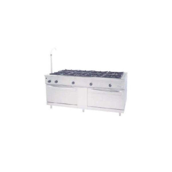 Cocinas centrales a gas con horno pasante y encimera Marca MUNDIGAS