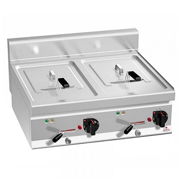 Freidora eléctrica Fondo 600 Capacidad 10+10 Litros Marca BERTO'S
