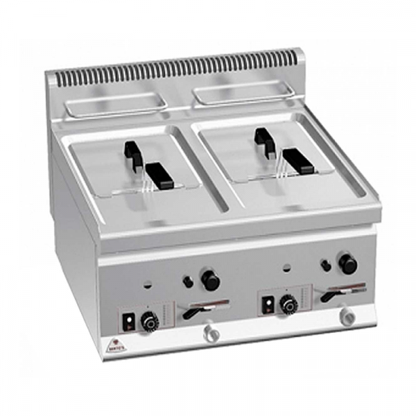 Freidora eléctrica sobremostrador Capacidad 10+10 Litros Marca BERTO'S