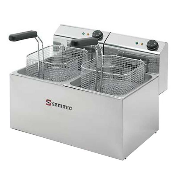 Freidora eléctrica marca Sammic capacidad dos cubas de 3 litros