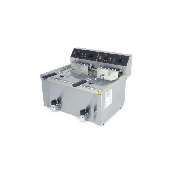 Freidora electrica marca sammic cuba soldada y dos de 12 litros cada una