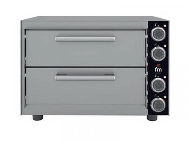 Horno profesional de pizza con dos camaras marca fm modelo stz233