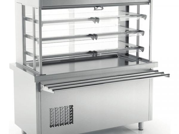Vitrina refrigerada SSVASF3 de 3 niveles abierta marca INFRICO