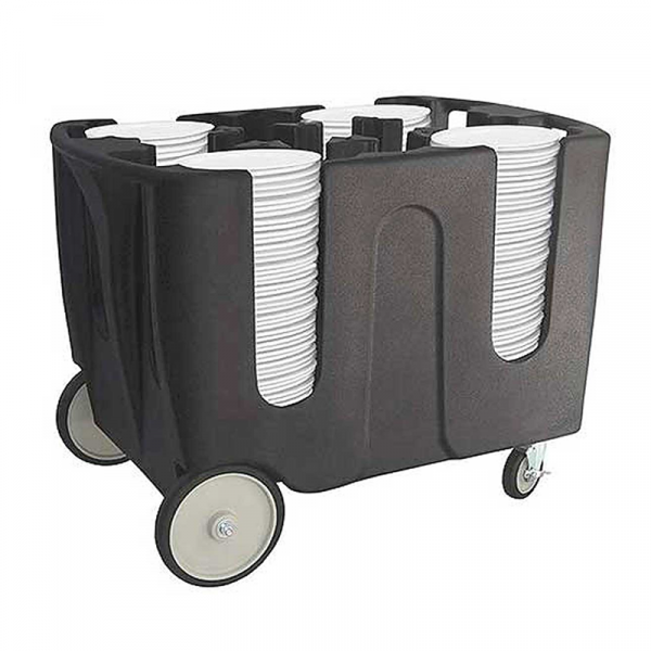 carros portaplatos en plietileno con pozos ajustables edenox