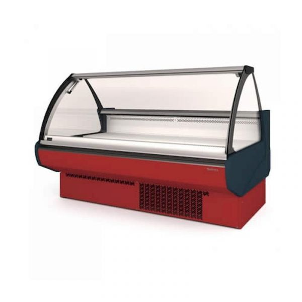 vitrina expositora modular frio ventilado sin reserva cristal curvo serie Europa infrico