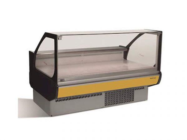 Vitrina expositora modular frío ventilado Serie Europa VEU-SCP marca INFRICO cristal recto