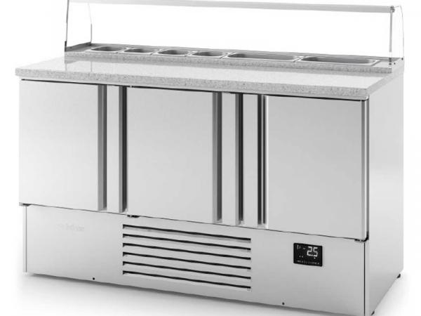 Mesa refrigerada para ensaladas Serie 700 ME PIZZA marca INFRICO