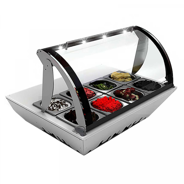 Vitrina expositora refrigerada Serie TOPPING BOX Marca SAYL