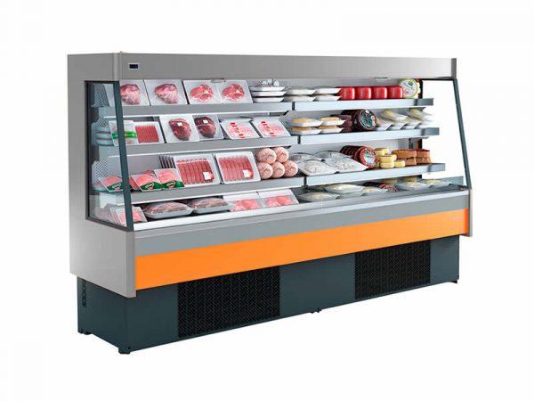 Semimural abierta refrigerada grupo incorporado serie SML marca INFRICO