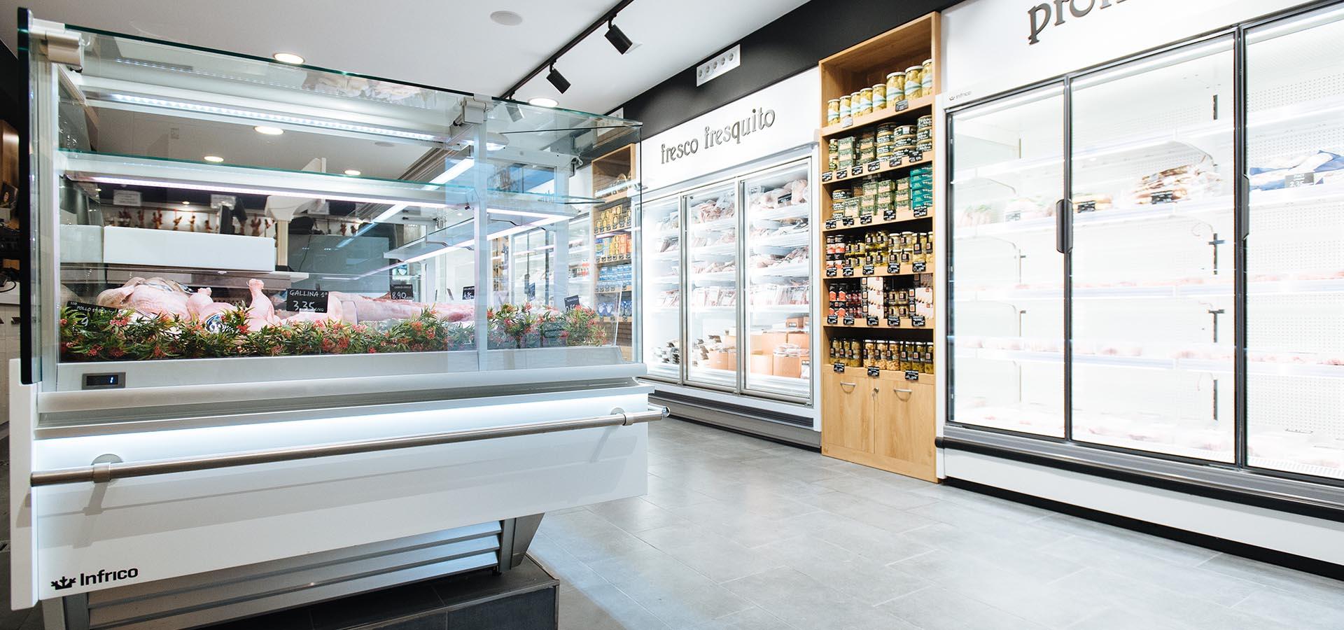 equipamiento para supermercados - vitrinas supermercados - pescaderías - carnicerías