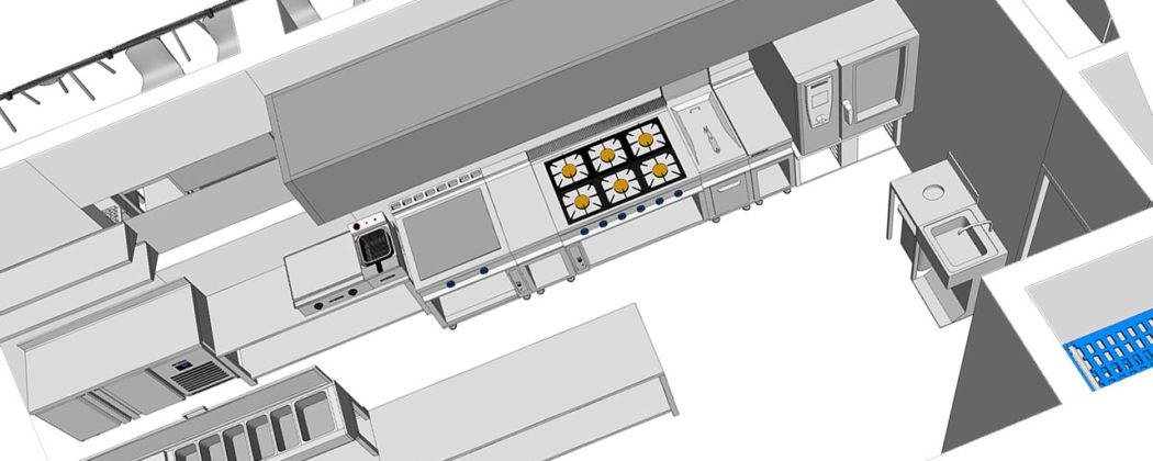 proyectos 3d cocinas - hostelería 3d - proyectos hostelería 3d - diseño interiores hosteleria