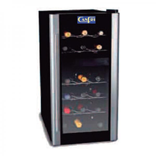 Vitrinas para Vinos dos temperaturas Marca CASFRI capacidad 18 botellas