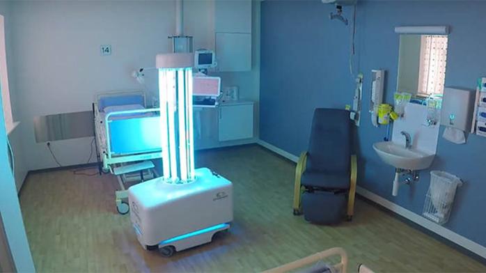 Robot desinfección radiación UV