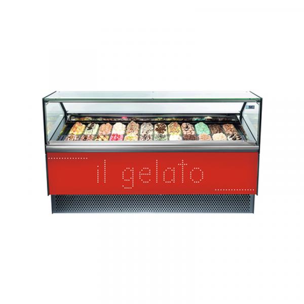 Vitrinas de Helados Cristal Recto NEW MILLENNIUM Marca EUROFRED con refrigerante R290
