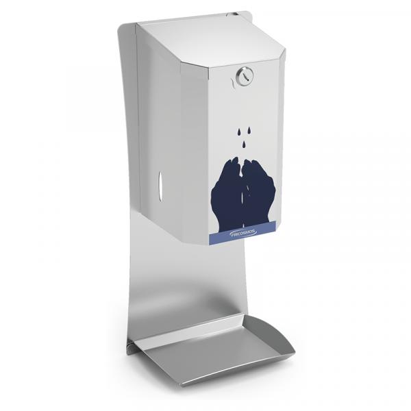 Dispensador de gel hidroalcohólico automático en acero inox marca FRICOSMOS modelo 064602