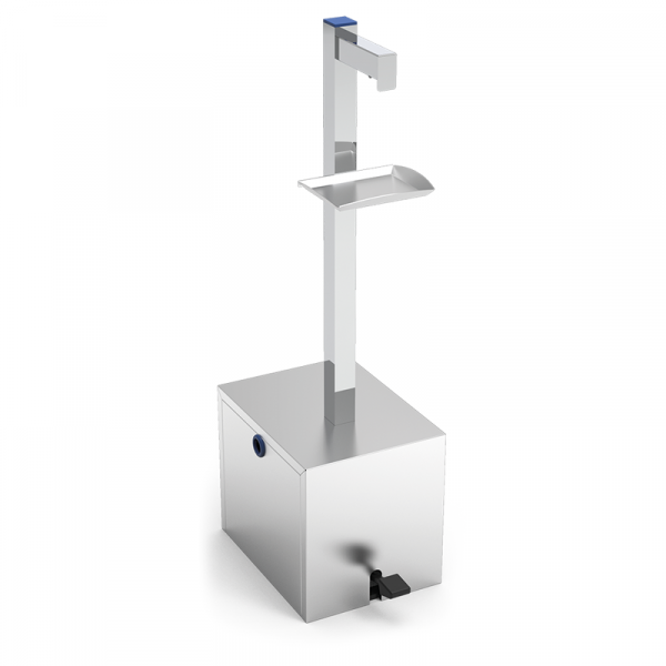 Dispensador de gel hidroalcohólico gran capacidad a pedal marca INFRICO modelo 064622