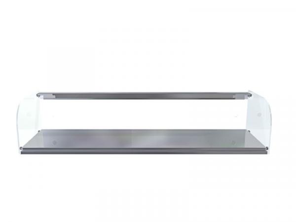 Vitrina neutra cristal curvo marca i90 modelo 1 piso curvo