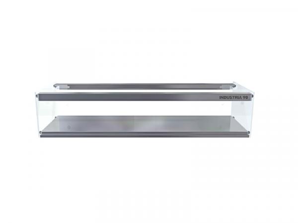 Vitrina neutra cristal plano marca i90 modelo 1 piso plana