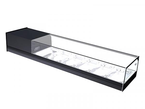 Vitrina refrigerada CUB cristal plano marca i90 modelo CUB 6 Bandejas