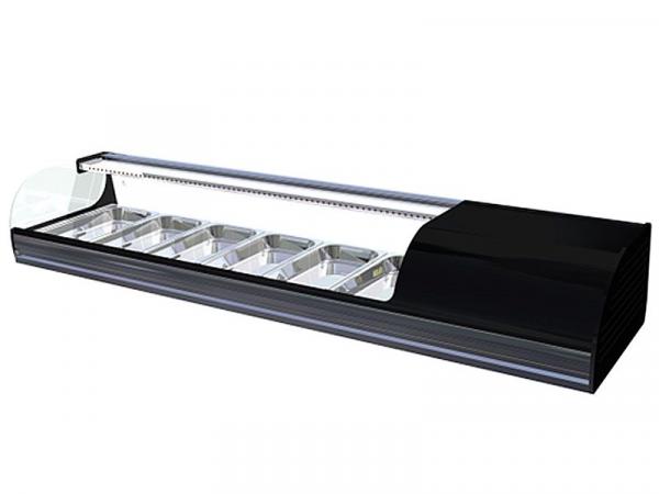 Vitrina refrigerada Iron Sushi marca i90 modelo 6 bandejas
