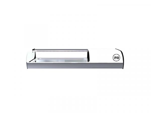 Vitrina refrigerada Iron Sushi marca i90 modelo cuba plana