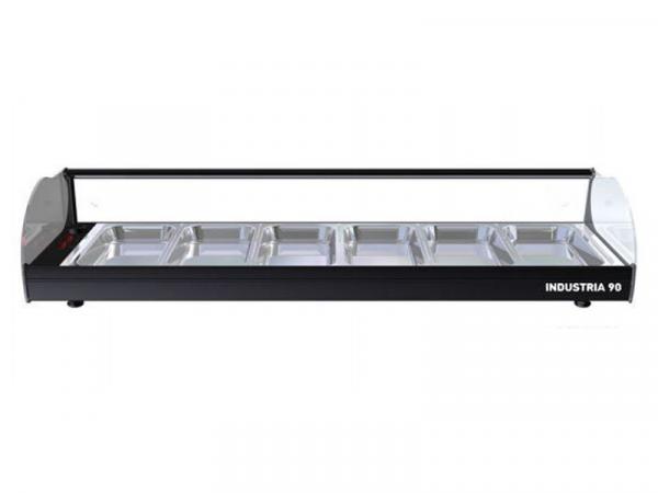 Vitrina tapas calientes Onix marca i90 modelo 6 bandejas