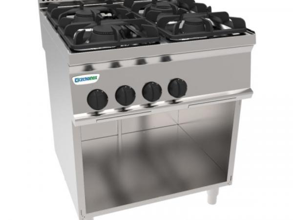 Cocina a gas con módulo bajo marca TECNOINOX modelo PC70G7A