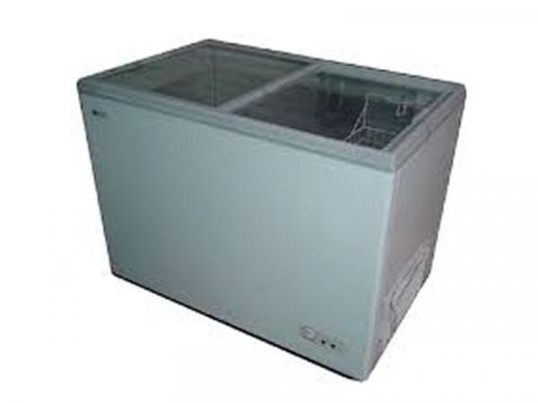 Arcon congelador puerta de cristal marca EUTRON modelo FCG-300
