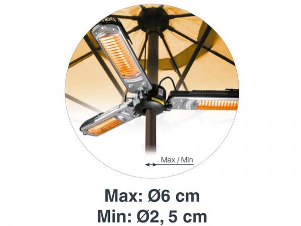 Calentador brazos abatibles marca LACOR modelo 69423 abierto